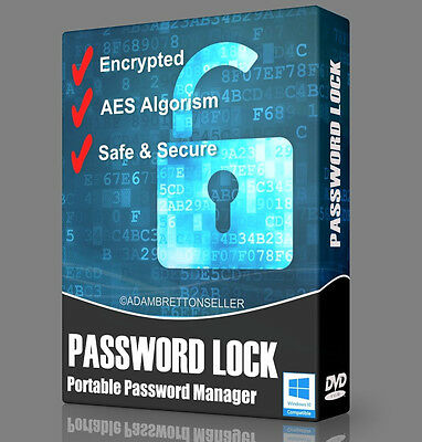 Password Lock Software - Encryption File Folder Safe Secure Master Manager DVD  • 3.65£
