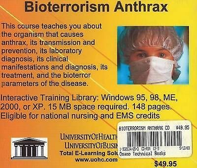 Bioterrorism Anthrax By UniversityOfHealthCare (CD-ROM, 2004) • 51.10£