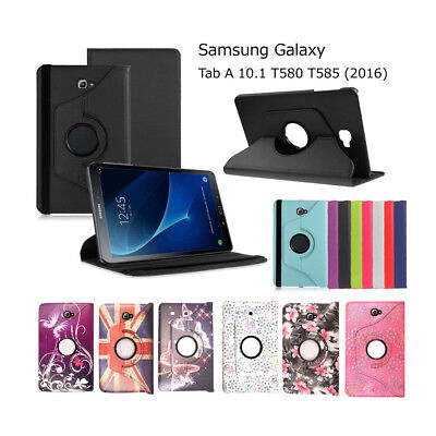 Leather Folio Case Stand Cover For Samsung Galaxy Tab A6 10.1  (2016) T580 /T585 • 4.95£