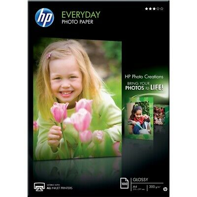 HP Everyday Photo Paper (Gloss) 200gsm A4 (1 X Pack Of 100 Sheets) • 18.78£