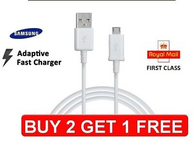 Charging Cable Samsung Galaxy S6 Edge+ S7 Note 4/5 Fast Charger USB Data Cable • 1.49£