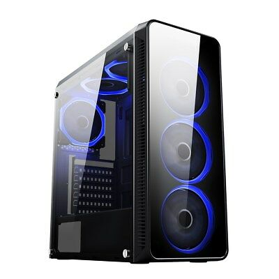 CiT Blaze Mid Tower Gaming Case - Black USB 3.0 • 48.19£