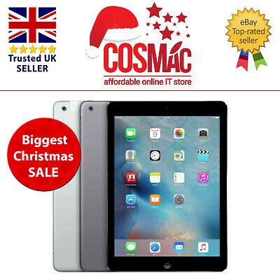 Apple IPad Air 32GB Retina Wi-Fi Only  9.7in Space Grey A Grade 12 M Warranty • 179.99£