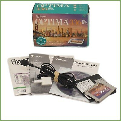 Hayes Optima 336 V.34 & Fax Pc Card - Boxed & Warranty • 13.58£