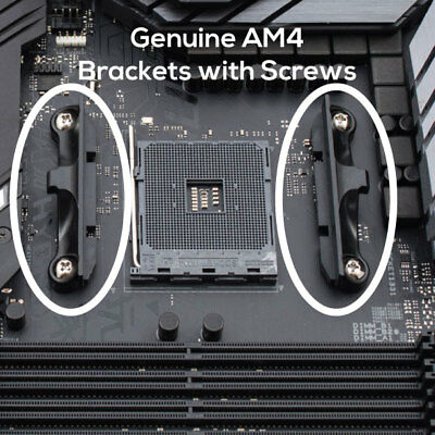 Genuine AM4 AMD CPU Cooler Motherboard Mounting Brackets With Screws • 9.90£