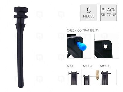 8 X BLACK REAL Silicone Mounting Screws/Rubber/Case/Fan Anti-Vibration Damp  • 2.99£