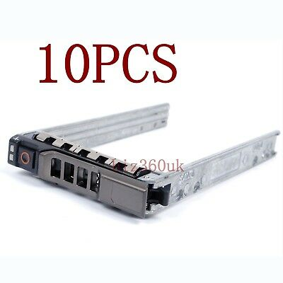 10X 2.5  SAS/SATA Hard Drive Tray Caddy G176J For Dell PowerEdge R710 R610 R620 • 57.99£