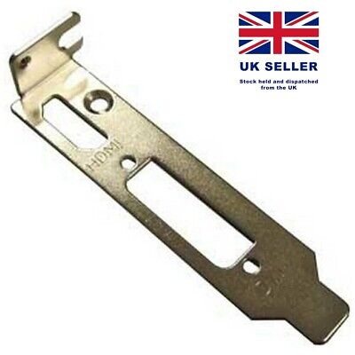Low Profile Bracket HDMI & DVI For Half Height Graphics Video Cards ASUS PALIT • 1.95£