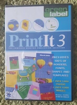 Print It 3  The Complete Desktop Publishing Solution New Sealed • 9£