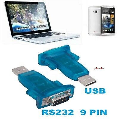 USB 2.0 To RS232 Serial Port DB9 9 Pin Male CH340 Converter Adapter Win7/8/2000 • 2.95£