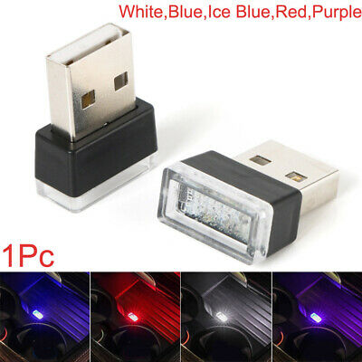 1x Mini USB LED Light Colorful Lamp Bulb For Car Atmosphere Lamp Accessories Kit • 4.03£