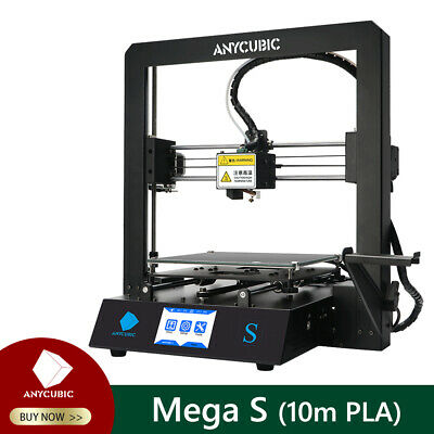 ANYCUBIC Mega S 3D Printer Pre-assembled With Ultrabase Hotbed + Free 10m PLA • 199£