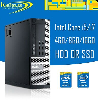 Dell Optiplex PC Core I5 I7 16GB RAM 2TB HDD SSD Windows 10 Desktop Computer • 284.99£