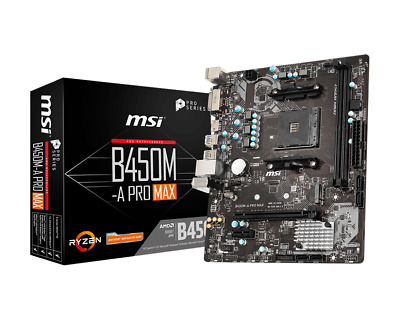 MSI B450M-A PRO MAX MATX Motherboard For AMD AM4 CPUs • 59.58£