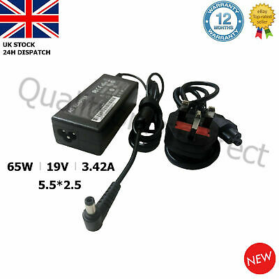 Asus Laptop Charger AC Adapter Power Supply 19V 3.42A 5.5*2.5mm 65W X502C X550C • 10.95£
