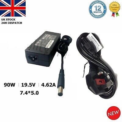 90W 19.5V 4.62A Laptop AC Adapter Charger Dell PA10 Latitude D620 D630 7.4*5.0MM • 9.95£