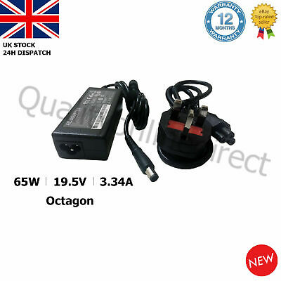 DELL PA21 Inspiron 1545 Laptop Charger Adapter 19.5V 3.34A Octagon Pin DA65NS4-0 • 9.95£