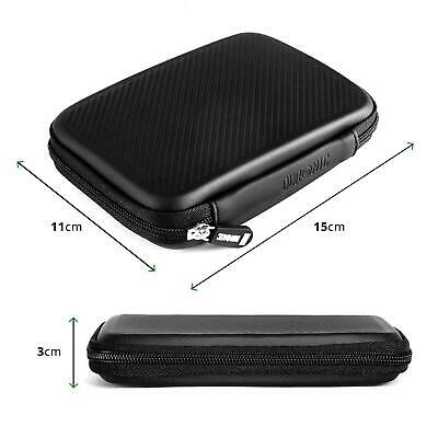 3 X Duronic HDC2 Small Eva Carry Case For External Portable Hard Drive - Black • 19.99£
