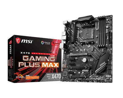 MSI X470 GAMING PLUS MAX ATX Motherboard For AMD AM4 CPUs • 84.14£