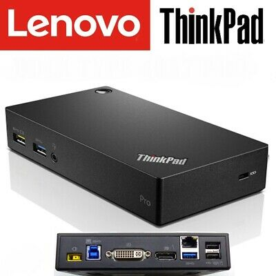 Lenovo ThinkPad USB 3.0 Pro Dock (DK1522) With Cables - WORKS WITH ALL LAPTOPS • 32.99£
