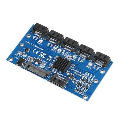 SATA Expansion Card 1 To 5 Port SATA3.0 Motherboard 6Gbps Riser Card HUB L&6 • 22.38£