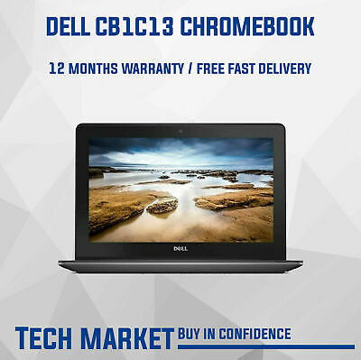 Refurbished 11.6  Dell Chromebook Cb1c13 With Chrome Os Webcam Hdmi Notebook - C • 109.99£