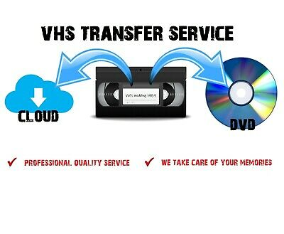 VHS To DVD Converter Transfer Service - VCR Digital Convert - Fast & Reliable • 9£