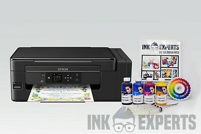 A4 Sublimation Printer Bundle: EPSON ET-2650 + 4 X 100ml Ink + Paper - None OEM • 219£