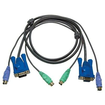 Avocent 1.8 Meter Cable For Keyboard, VGA & Mouse (KVM) 6-Pin PS/2, DVI-D Male • 9.99£