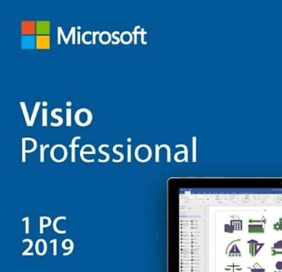Instant Official Microsoft Visio 2019 Professional 1 PC Key + Download Link! • 1.85£