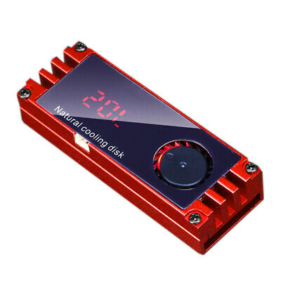 Temperature OLED Display M.2 2280 SSD Heatsinks Heat Thermal Pads (Red) L&6 • 11.39£