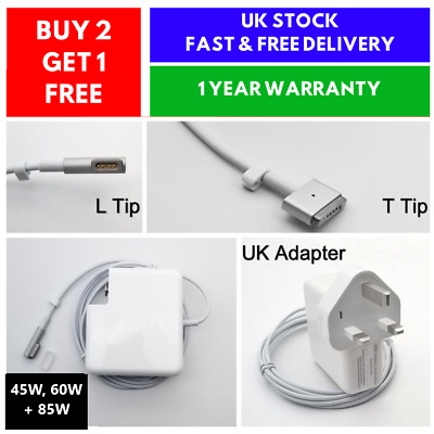 85w 60w 45w Power Adapter Charger For 1 2 Mac Book Macbook Pro 15 17 • 29.99£