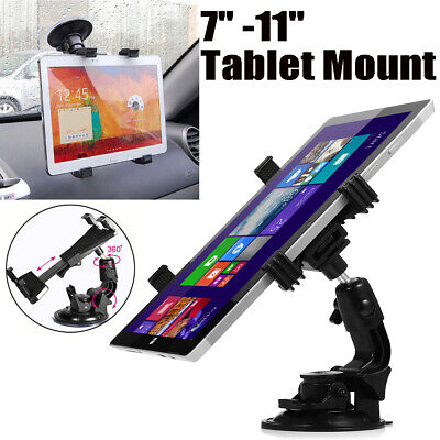 Universal In Car Suction Mount 360° Holder IPad & Samsung Galaxy Tablet 7 To 11  • 6.19£