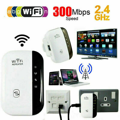 WiFi Range Extender Super Booster 300Mbps Superboost Speed Wireless Repeater • 11.65£