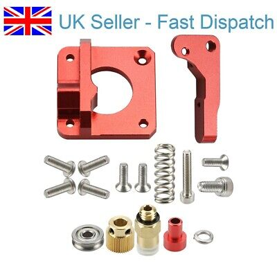 MK8 MK9 Red Extruder 3D Printer All Metal Bowden Extruder Kit Right Hand CR-10 • 8£
