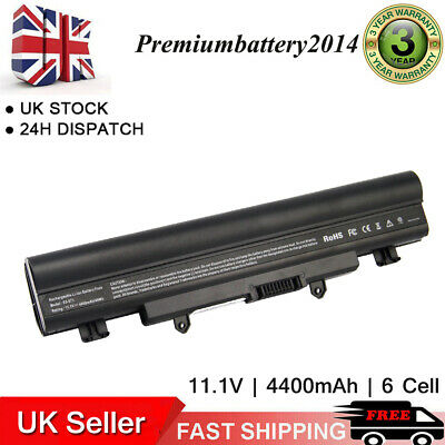 6 Cell Battery For Acer Aspire E14 E15 Touch V5-572 V3-472 E5-531 E5-421 AL14A32 • 13.99£