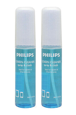 Philips 60ml Screen Cleaner For LCD/Plasma/LED TV's With Microfiber Cloth • 5.99£