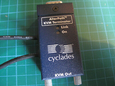 Cyclades 107-A AlterPath KVM Terminator Adapter VGA, PS/2 And RJ45 • 25£