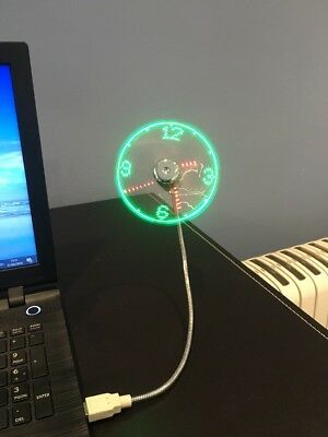 USB Desk Fan Clock • 5£