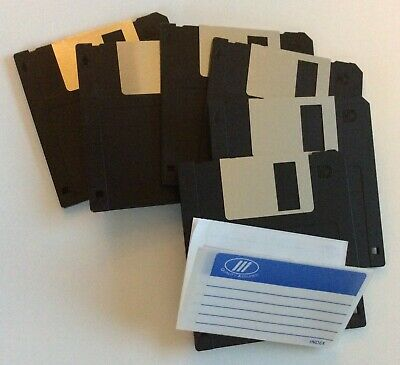 6 Double Sided High Density Diskettes, 2HD 3.5in Floppy Disks. Unused • 5.95£