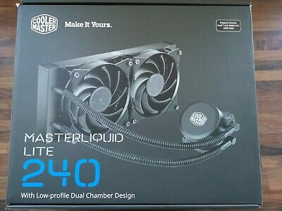 *** Cooler Master MasterLiquid Lite 240 Liquid CPU Cooler - BOXED • 26.34£