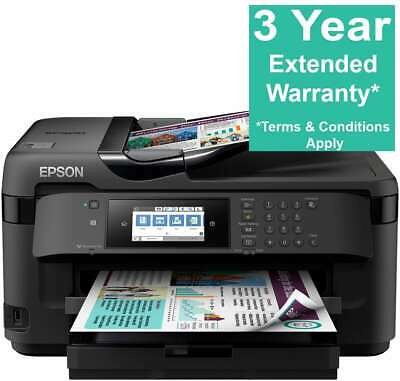 Epson WorkForce WF-7715DWF A3 Inkjet Printer All In One: Scan, Copy, Fax, Duplex • 199.99£