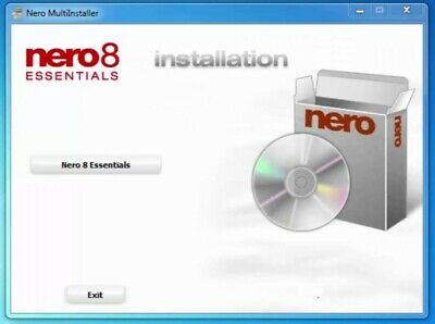 Nero 8 Express Essentials Full Version CD DVD Burner Burning Suite Windows 7 10 • 5£