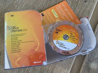 Microsoft Office Ultimate 2007 - Used VGC - Retail DVD • 6£