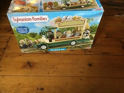 Sylvanian Families Woodland Bus Discontinued Applewood Double Decker Retro Toys  • 38£