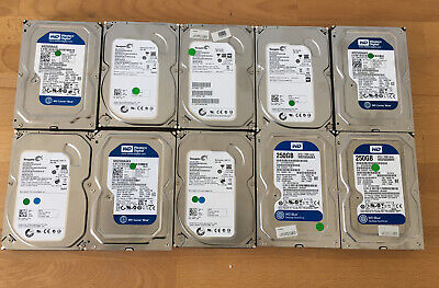 **10x 250GB** 3.5 HD Hard Drives *PRICE TO CLEAR* *UK ONLY* • 45£