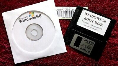 Windows 98 Second Edition + Floppy Boot Disk + Product Key • 5.75£