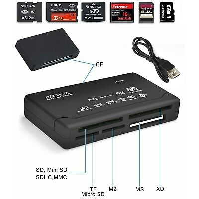All In One Memory Card Reader For Micro SD SDHC M2 MMC XD CF With External USB • 4.99£