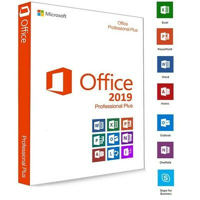 Microsoft Office 2019 Professional Plus Key Serial Genuine Code Instant Delivery • 6.50£