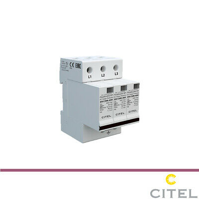 CITEL 3 PHASE SURGE PROTECTION 230/400V TYPE 1 Imax 50KA DS133VGS-230 • 150£